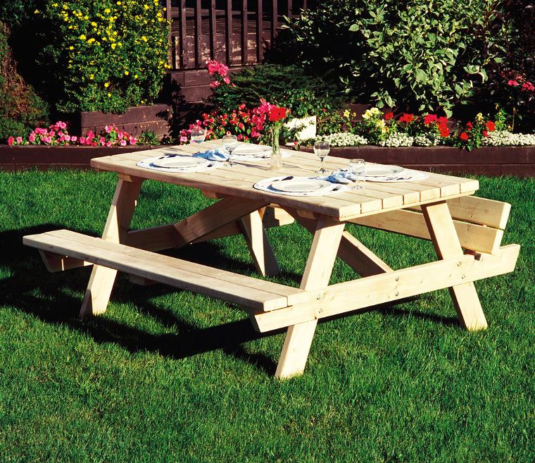 Agrandir Square Picnic Table