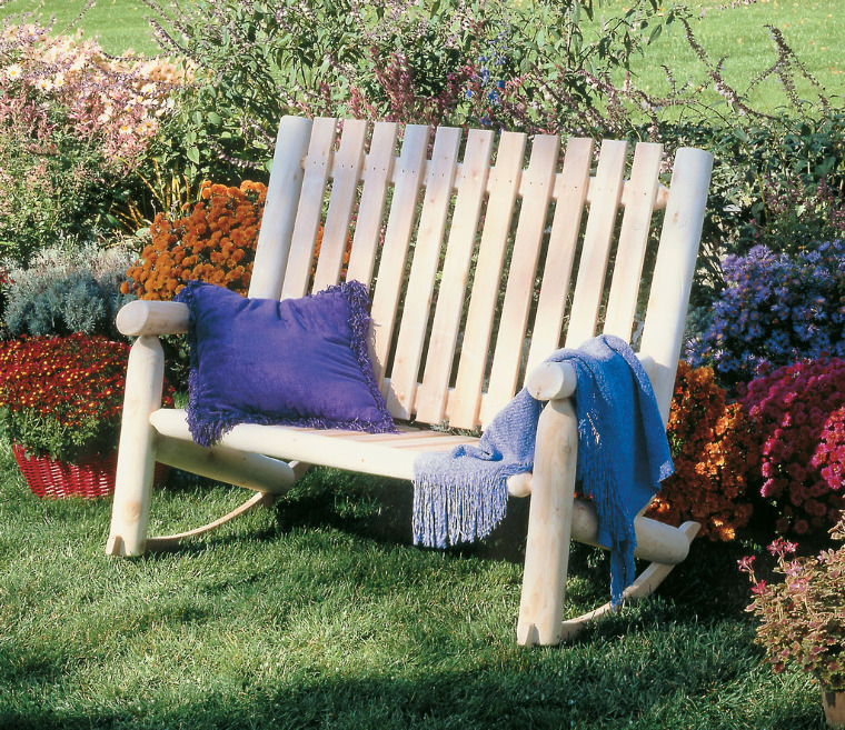 Double high back rocker cedar looks for Chaise bercante